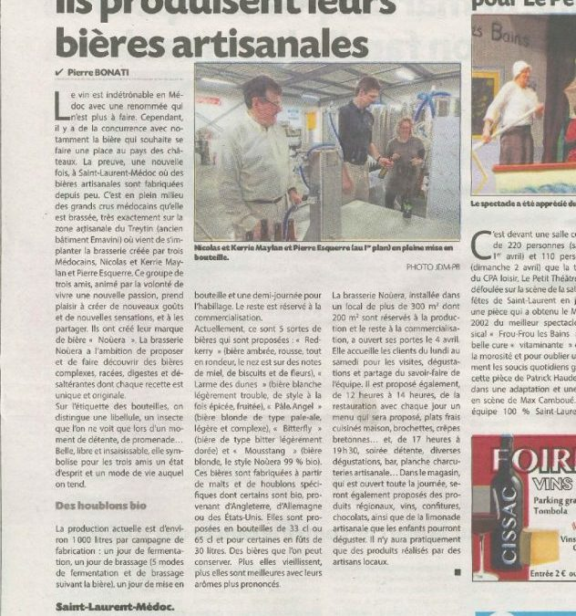 Article journal du Médoc du 7 avril 2017